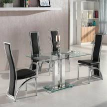 glass dining table set. Glass Dining Table And 4 Chairs, Set