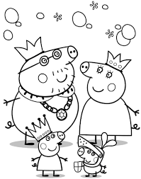 Peppa Pig Cartoon Free Color Pages For Kids   Cartoon Coloring ...