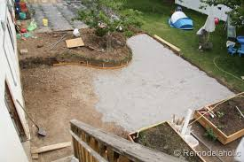 stunning concrete patio diy remodelaholic part one home remodel ideas how to build a concrete patio n1