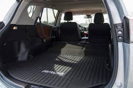 the rav4 actually bested the old cr v in terms of overall cargo space and it holds up well to the new one with a low flat load floor that makes moving