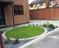 a circular front garden and driveway