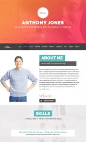 Free Resume Cv Web Templates New Template Resume Personal Portfolio Web Template Html Website 36