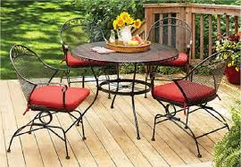 better homes and gardens clayton court 5 piece wrought iron patio dining set