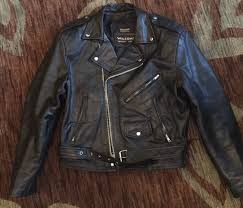 wilsons leather thinsulate vintage black zip motorcycle moto biker jacket sz med 1 of 10only 1 available
