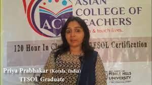 Priya Prabhakar (TEFL KERALA BATCH, Nov. 2016) - YouTube