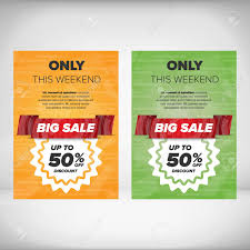 Sample Of Flyer Big Sale Discount Flyer Templates With Sample Text