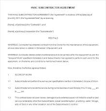 Landscape Installation Contract Template Contractor Contracts Sample