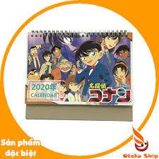Lịch 2020) Lịch để bàn hình Anime Detective Conan - Thám Tử Lừng Danh Conan