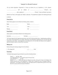 Auto Lease Agreement Form Vehicle Format Example Car Free Template ...