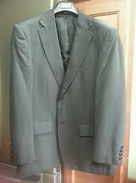 New Haggar Two Button Grey Plaid Suit Blazer Jacket Men Size