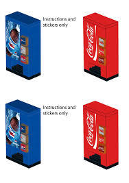 Coca Cola Vending Machine Manual New Pepsi Coca Cola Vending Machine Stickers For LEGO Home