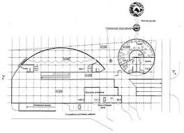 Строительство четырехэтажного здания торгового центра в г Минск  4 х этажное здание торгового центра состоит из прямоугольного и трапециевидного в плане объемов объединенных внутренней торговой улицей