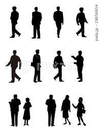 シルエット人物人物素材人物アイコン人物ビジネス人物のイラスト