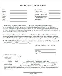 Free Subcontractor Lien Waiver Form Lien Release Template Free Form Awesome Conditional Waiver Ohio