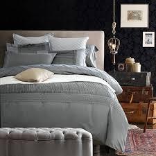 silk sheets luxury designer bedding set silver grey quilt duvet cover bedspreads cotton bed spread full queen king size double duvet covers duvet