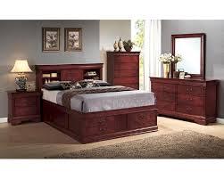 Louis Philippe Bedroom Furniture Coaster Louis Philippe Bedroom Set W Storage In Cherry Co 200439set