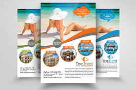 Free Templates For Brochures And Flyers Travel Agency Sample