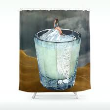 surfboard themed shower curtains bathroom decoration vintage