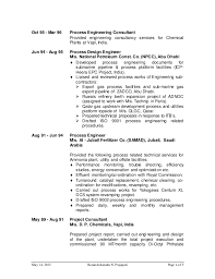Chemical Engineer Resume Fascinating R Prajapati CV For Process Engineer For Oil And Gas Website