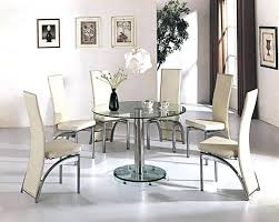 glass round dining table glass dining table set glass round dining table and chairs impressive design