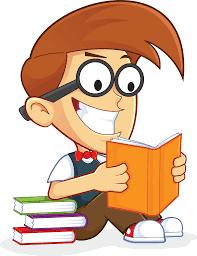 free nerd geek reading book people high resolution clip art banner stock