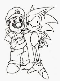 Mario Sonic Coloring Pages Print Cartoon Pinterest Sonic And Mario
