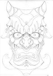 japanese for mask japanese oni mask drawing at getdrawings com free for personal use