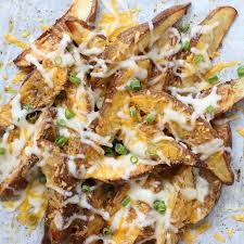 easy 6 ing cheesy potato wedges