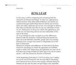 king lear essay twenty hueandi co king lear essay