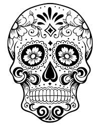 Printable Day Of The Dead Sugar Skull Coloring Page Halloween