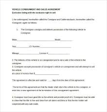 consignment form for cars 17 consignment agreement samples and templates pdf word