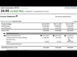 Sample Income Statement Gorgeous Research Development RD On The Income Statement YouTube