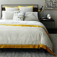 dwell studio duvet stripe ash duvet cover reviews