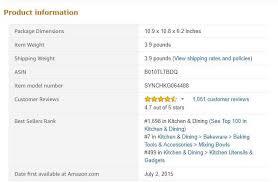 amazon best seller rank