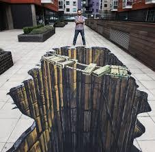 33 Brain Melting Works Of 3 D Sidewalk Chalk Art Pavement