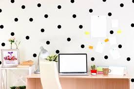 black polka dot wall decals