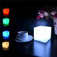 Romantic Lighting Us 1 59 10 Off Romantic Lighting Led Cubes Colorful Changing Mood Lights Night Light Fashion 7 Dim Light Home Holiday Led Night Lamp In Led Night