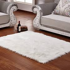 faux fur rug white soft fluffy gy rugs sheepskin intended for inspirations 11