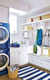 Laundry Room: White Blue Laundry Room - Colorful Laundry Room