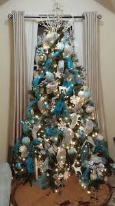 Silver and Blue Christmas Tree. White Christmas TreesBlue Christmas Tree  DecorationsChristmas ...
