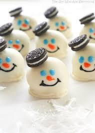 christmas oreo balls. Contemporary Christmas Melted Snowmen Oreo Balls Throughout Christmas A