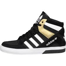 adidas shoes high tops black and white. adidas originals womens hard court block hi-tops black/white/metallic gold shoes high tops black and white l