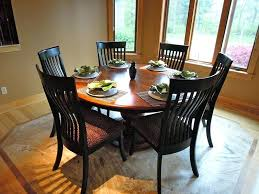 54 inch round table top dining with leaf for set regarding prepare pad