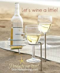 outdoor wine glass holders