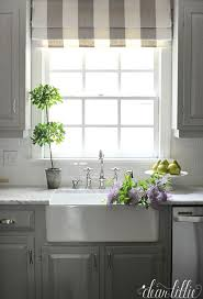 faux roman shade. We Love Interest This Striped Faux Roman Shade Adds To Gray And White Kitchen. The Pops Of Green From Pears HomeGoods Add A Bright Touch
