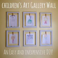 Childrens Artwork Display Cathey With An E Diy Childrens Art Gallery Wall
