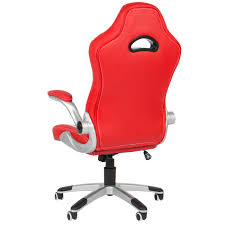 Office Chair Leather Executive Office Chair Pu Leather Racing Style Bucket Desk Seat