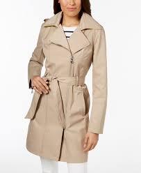 hooded asymmetrical trench coat vince camuto khaki 5499304 zlcchyk