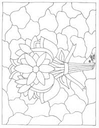 Flower Stained Glass Coloring Page By Christopher Mcvay Tpt