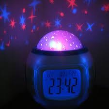 dteck children baby room sky star night light projector lamp bedroom alarm clock com